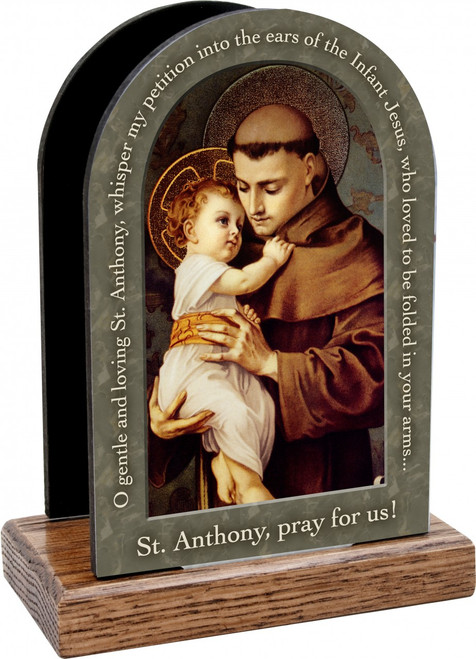 St. Anthony with Jesus Prayer Table Organizer (Vertical)