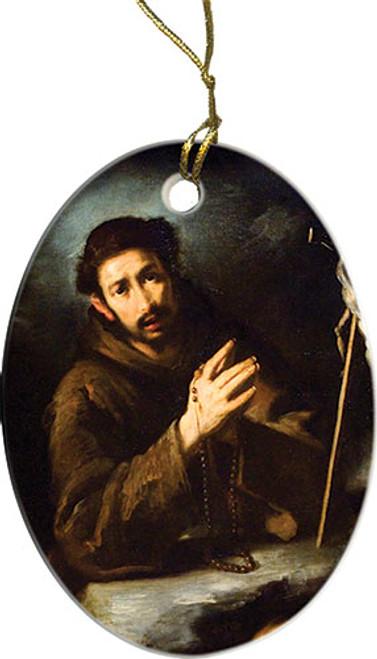 St. Francis in Prayer Ornament