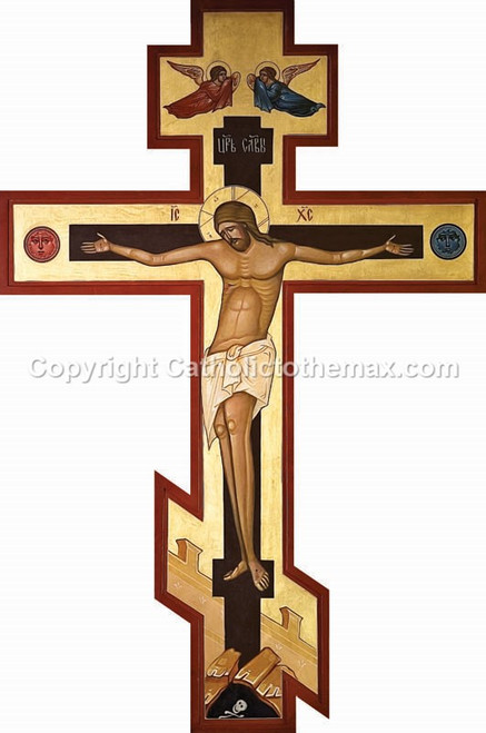 Icon of Cross (Dark) Wall Plaque