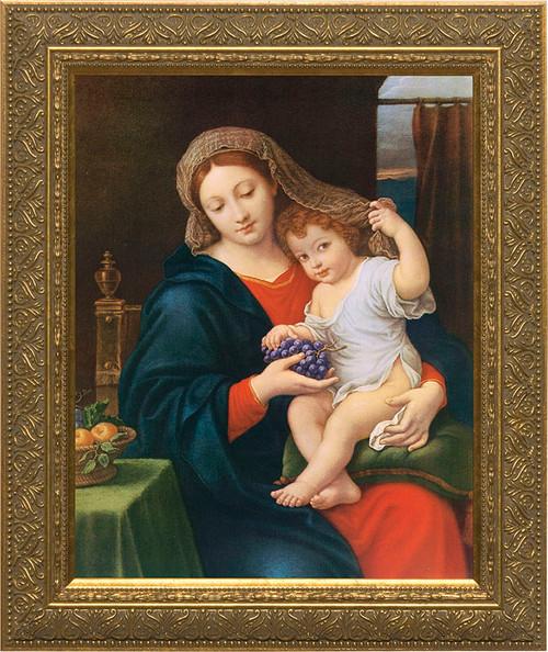 polish madonna gold framed art catholic to the max online catholic store. Black Bedroom Furniture Sets. Home Design Ideas