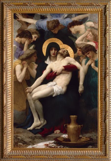 La Pieta Canvas - Ornate Gold Framed Art