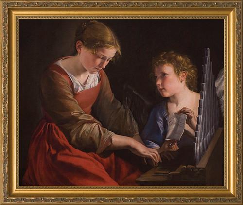 St. Cecilia Canvas - Standard Gold Framed Art