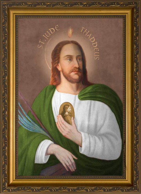 Saint Jude Canvas - Standard Gold Framed Art