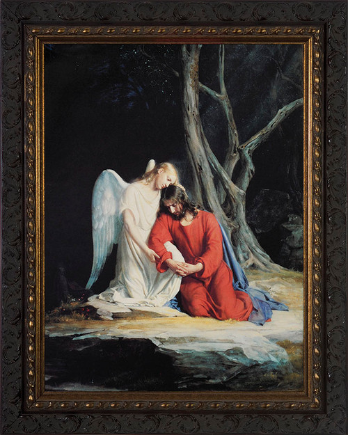Gethsemane Canvas - Ornate Dark Framed Art