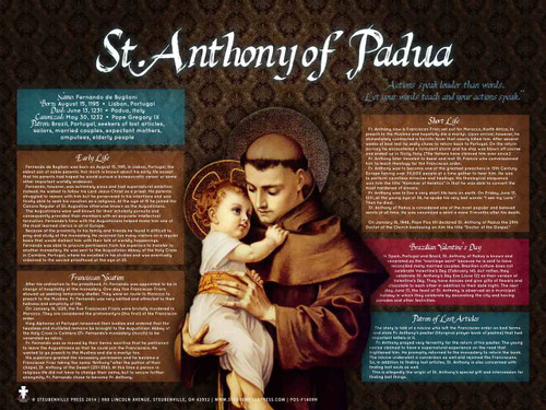 St. Anthony with Jesus Explained Poster