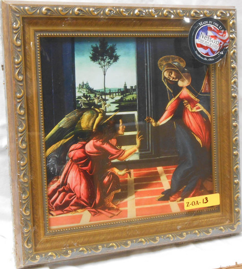 CLEARANCE Annunciation by Botticelli 8x8 Framed Print