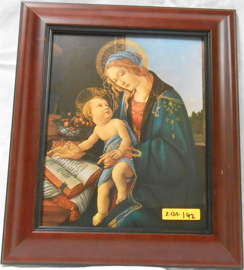 CLEARANCE Madonna and Child with Scriptures 5x7 Framed Print