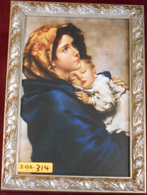 CLEARANCE Madonna of the Streets 6x9 Ornate Silver Wood Framed Print