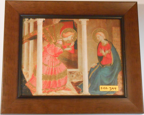 CLEARANCE The Annunciation 8x10 Wood Framed Print