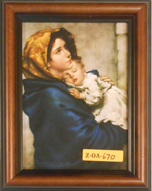 CLEARANCE Madonna of the Streets 5x7 Brown Framed Print