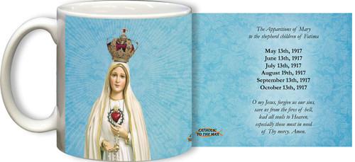 "100 Year Anniversary Fatima ""O My Jesus"" Mug"