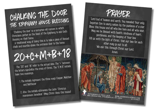 Epiphany Home Blessing Explained Card