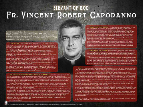 Fr. Vincent Robert Capodanno Explained Poster