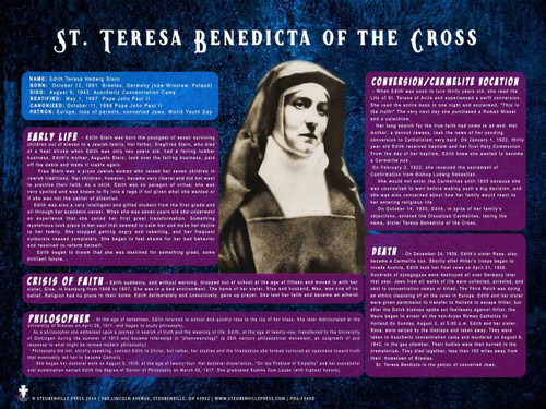 St. Teresa Benedicta of the Cross Explained Poster