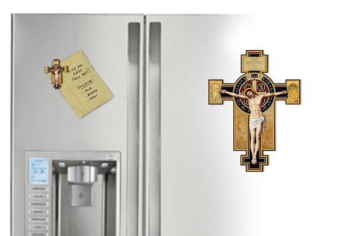 Benedictine Cross Cutout Magnet