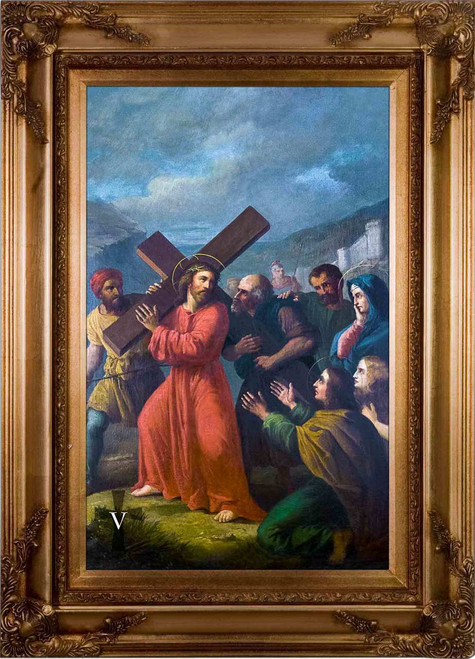 Bertucci Stations of the Cross (Set of 14) - Museum Framed Canvas