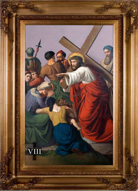 St. Peter's Stations of the Cross (Set of 14) - Museum Framed Canvas
