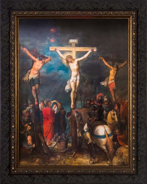 Crucifixion by Frans Francken - Ornate Dark Framed Art