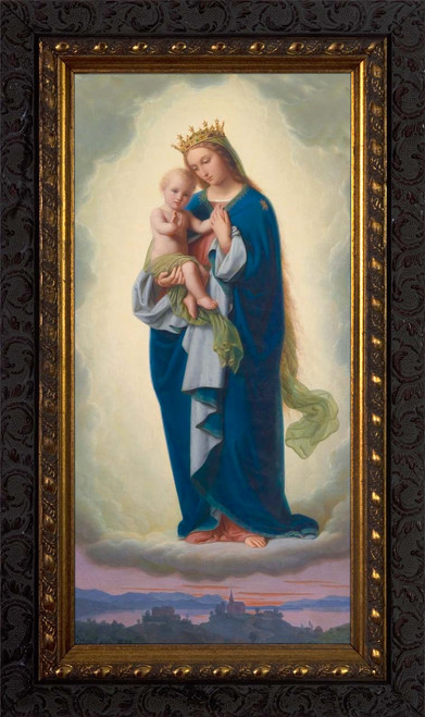 Madonna and Child by Franz Ittenbach - Ornate Dark Framed Art