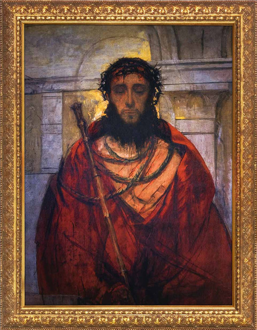 Ecce Homo by St. Albert Chmielowski - Gold Framed Art