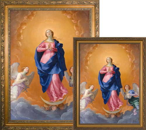 The Immaculate Conception by Guido Reni - Gold Framed Art