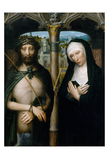 Christ Crowned with Thorns, and the Mourning Virgin by Adriaen Isenbrant Print