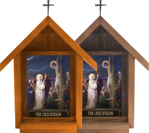 The Seven Sorrows of Mary Handcrafted Deluxe Outdoor Shrine (Set of 7)