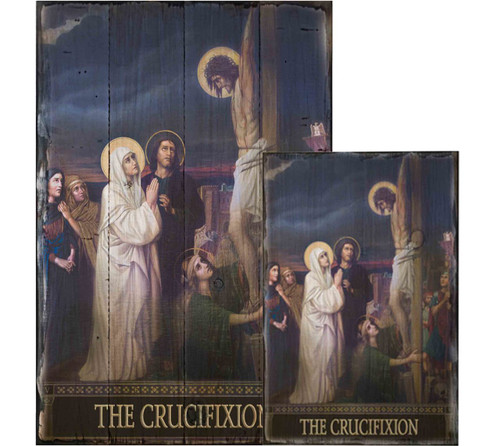 The Seven Sorrows of Mary Rustic Wood Plaques (Set of 7)