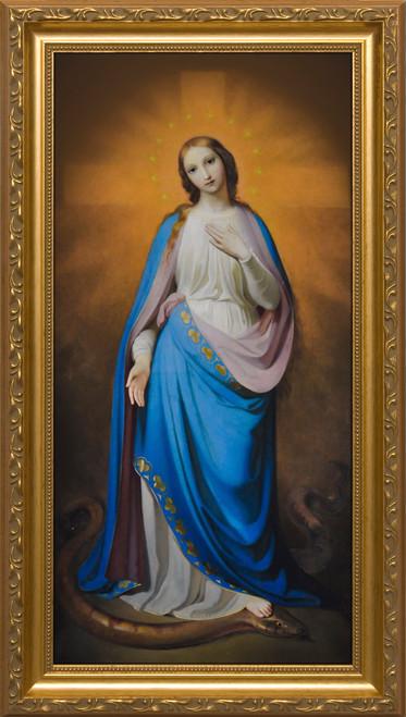 Virgin Victorious by Melchior Paul von Deschwanden - Standard Gold Framed Art