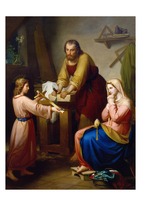 The Holy Family by Rafael Flores Print