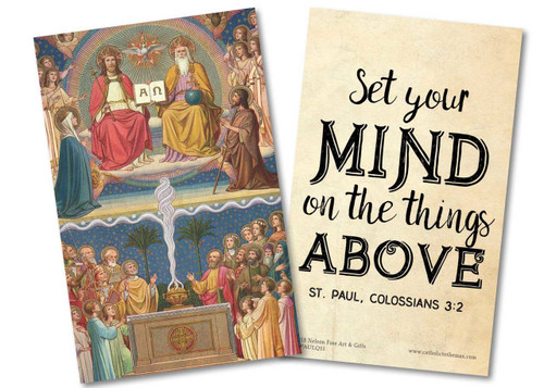 """Set Your Mind"" St. Paul Quote Holy Card"