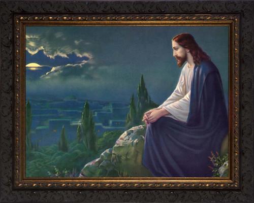 Christ on the Mount of Olives by Josef Untersberger - Ornate Framed Art