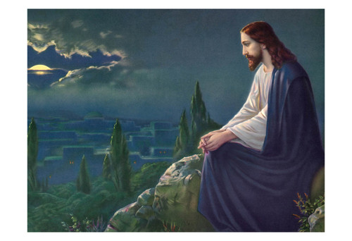 Christ on the Mount of Olives by Josef Untersberger Print