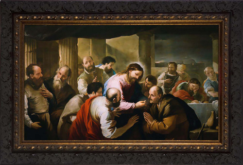 The Communion of the Apostles by Luca Giordano - Ornate Framed Art
