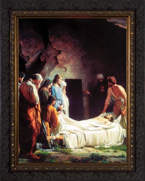 The Burial of Christ by Carl Bloch - Ornate Dark Framed Art