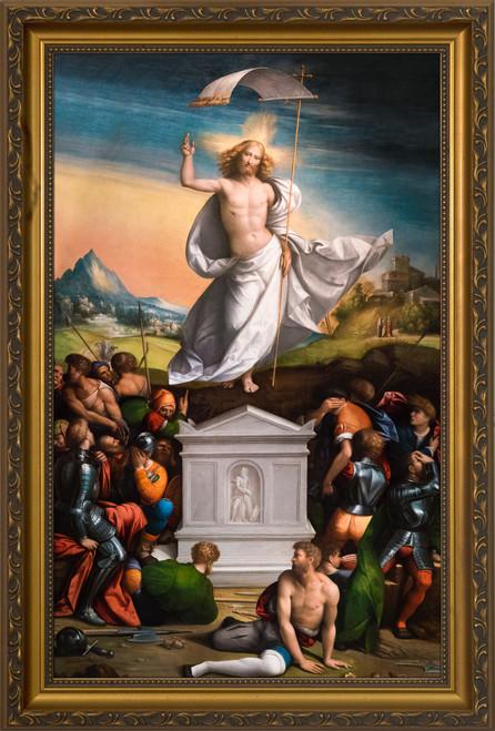 The Resurrection of Christ - Gold Framed Art