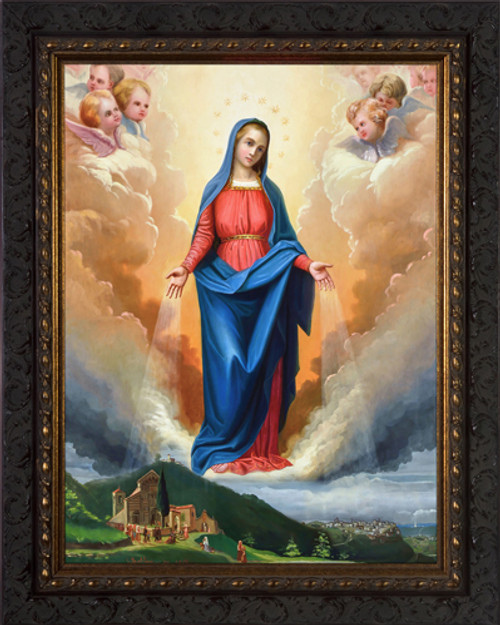 Our Lady of Graces Received - Ornate Dark Framed Art