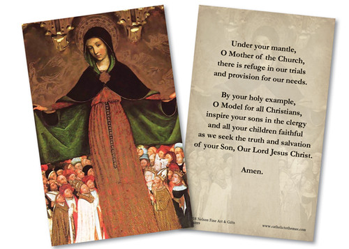 Mother of Mercy Holy Card
