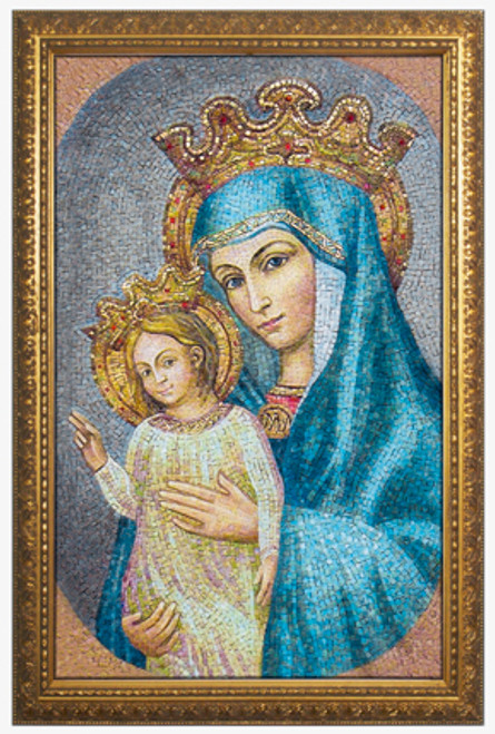 Mater Ecclesiae - St. Peter's Square Mosaic - Gold Framed Art