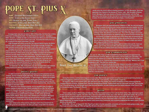 St. Pope Pius X Explained Poster