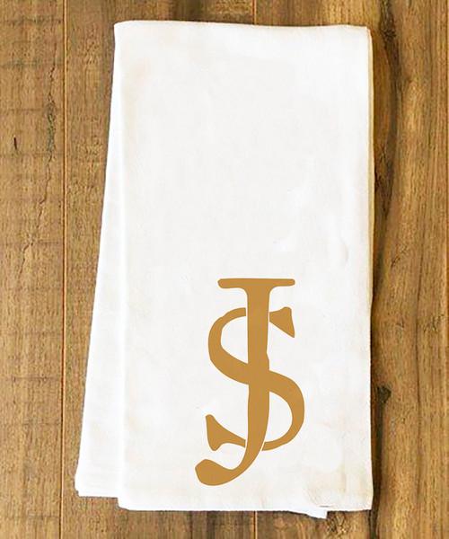 St. Joseph Monogrammed Tea Towel