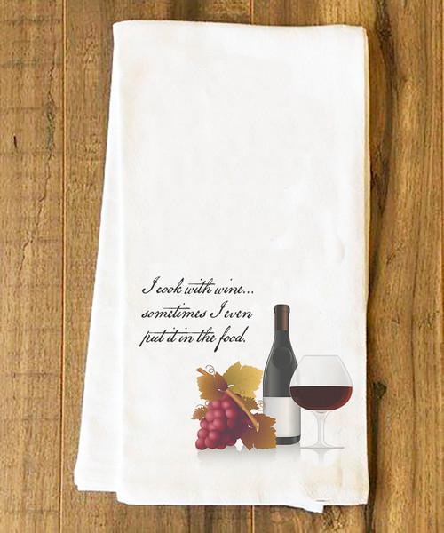 Cooking with Wine Tea Towel