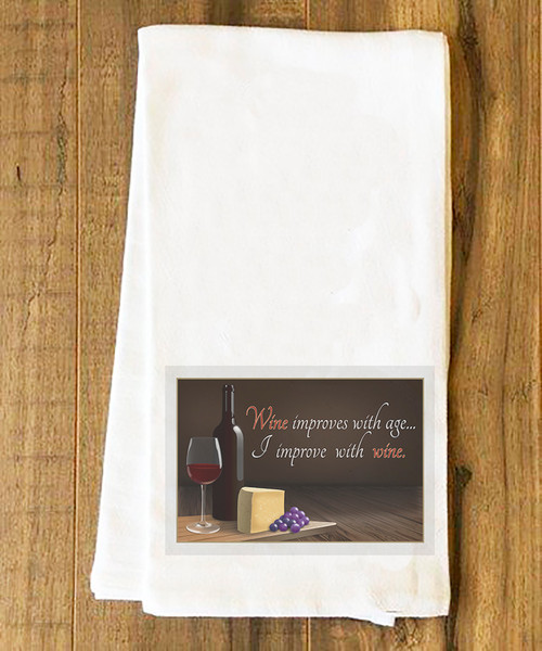 Improve with Wine Tea Towel