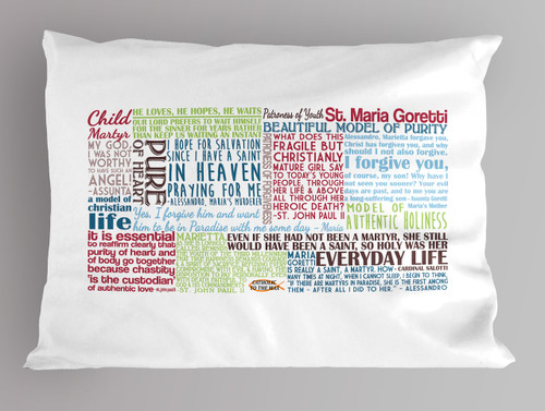 Saint Maria Goretti Quote Pillowcase