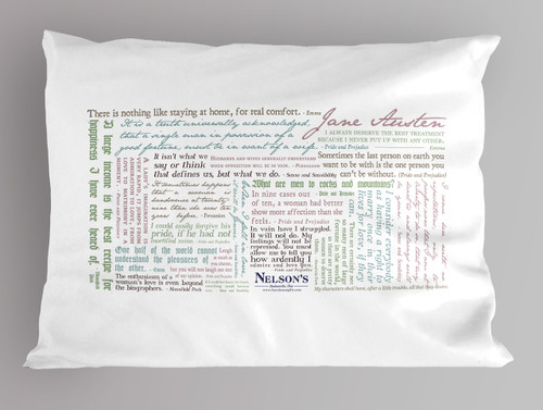 Jane Austen Quote Pillowcase