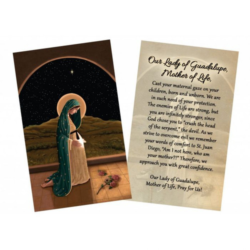 """Mother of Life"" by Nellie Edwards Holy Card"