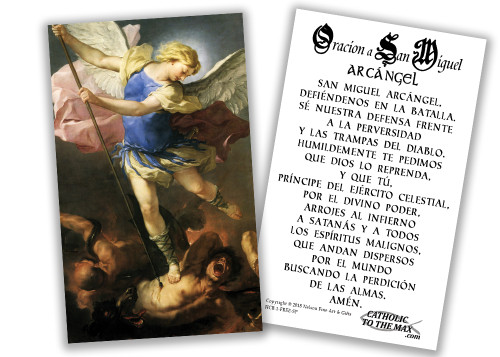 FREE Spanish Saint Michael the Archangel Holy Cards (pack of 50)