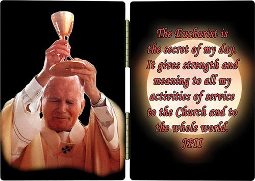 St. John Paul II Raising Chalice Diptych