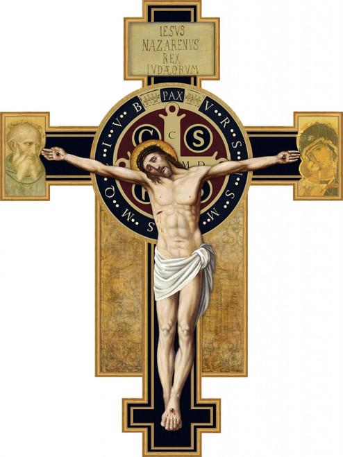 Benedictine Cross Wall Plaque Crucifix