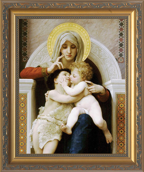 Mary Jesus Amp St John By Bouguereau Ornate Framed Art